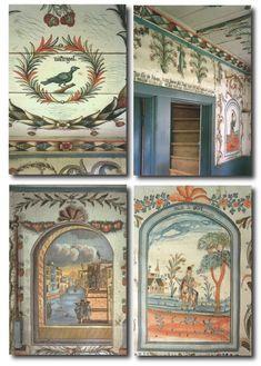 Swedish Country Folk inspiration painting design s. Swedish Cottage, Swedish Decor, Swedish Style, Swedish Design, Swedish House, Cottage Chic, Swedish Interiors, Country Interiors, Scandinavian Folk Art