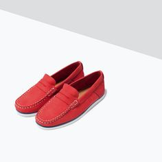 ZARA - SHOES & BAGS - LEATHER MOCCASIN