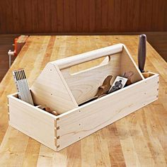 Why buy a canvas bag or plastic toolbox when you can make one that shows off your skills as well as your tools? With this tote, you'll learn to create through-dovetail joints with hand tools. But if you prefer to skip the dovetails, we provide an alternative joinery method.