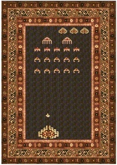 Space invaders Persian rug