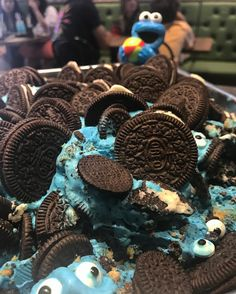 Cookies and cream gone Cookie Monster