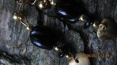HANDMADE BLACK GLASS  XO for gift OX