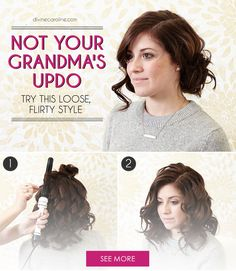 Step-by-step instructions on how to create this flirty updo at home. #Hair #Updo