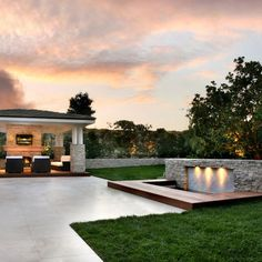 Landscape Fountain Set Into Retaining Wall Design, Pictures, Remodel, Decor and Ideas - page 5