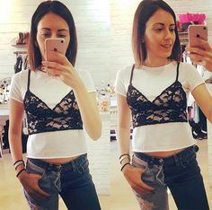 Remember when crop tops resurfaced from the '90s, leaving bare midriffs in their wake and causing many people to clutch their pearls and gasp at the horror of belly buttons? Well, get ready for round two, because just as crop tops have started to feel more normal and less risque, bralette tops are entering the picture.
