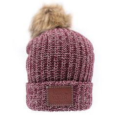 b536800ece0 Burgundy and Natural Speckled Pom Beanie – Love Your Melon Love My Melon