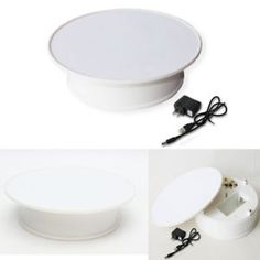 Round White Top Electric Motorized Rotating Shop Jewelry Display Stand Turntable  | eBay Jewelry Display Stands, Jewellery Display, Jewelry Shop, Video Production, Turntable, Electric, Top, Photography, Shopping