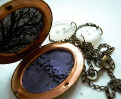 Close Locket by Lost In The Forest (@Emily Chandler) http://lostintheforest.etsy.com #stitch #tree #black
