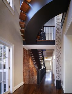 Barnes Vanze Architects, Inc. - Floating Stair in an Updated Classic Georgetown Rowhouse