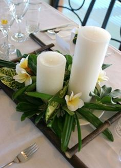 Tropical Wedding Centerpiece Beach Ideas and Inspirations, doesn't have to be at a beach to have a summer beach theme for your guests