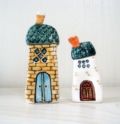 Adorable ceramic houses