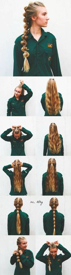 This cinched pony is so boho chic!