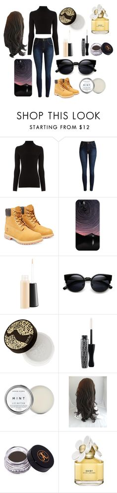"""""""my everyday"""" by idkwifi on Polyvore featuring Warehouse, Timberland, Casetify, MAC Cosmetics, tarte, Anastasia Beverly Hills, Marc Jacobs, women's clothing, women and female"""