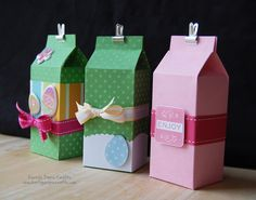 Milk carton packaging tutorial by gabrielle Craft Gifts, Diy Gifts, Diy Paper, Paper Crafts, Milk Box, Mini Milk, Little Presents, Gift Packaging, Packaging Ideas