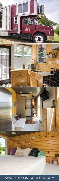 A former film production truck turned tiny house!