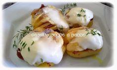 Receita passo a passo: Batatas Fatiadas Recheadas com Bacon e Requeijão / Sliced Potatoes Sttufed with Bacon and Cheese Curd