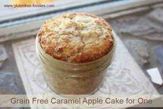 Grain Free Caramel Apple Cake for One - Gluten Free Foodies