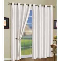 5 Colors - Mira Grommet Window Curtain Panels 58 x - White Modern Curtains, Grommet Curtains, White Curtains, Window Curtains, Curtain Panels, Window Panels, Living Room Bedroom, Bedroom Decor