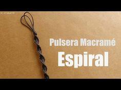 Pulsera Macrame: Espiral // Pulseras de hilo - YouTube