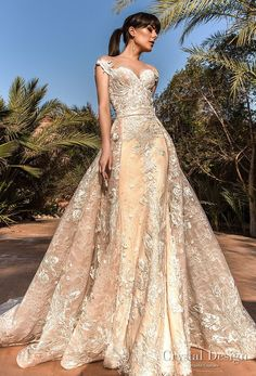 crystal design 2018 cap sleeves sweetheart neckline full embellishment princess a line wedding dress sheer back royal train (butterfly) mv -- Crystal Design 2018 Wedding Dresses #weddinggowns