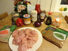 Edels Mat & Vin: BBQ Kyllingform med grønnsaker ✿ Bbq, Tacos, Ethnic Recipes, Food, Barbecue, Barrel Smoker, Essen, Meals, Yemek