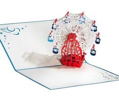 3D Pop Up Card - Ferris Wheel - INPCreative - 1