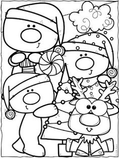 Dibujos de Navidad para colorear Christmas Card Crafts, Christmas Drawing, Homemade Christmas Gifts, Christmas Activities, Christmas Printables, Christmas Colors, Kids Christmas, Free Coloring Pages, Coloring For Kids