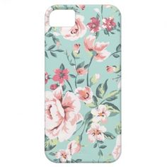 Cottage Floral Pattern iPhone 5 Case. By LorrieM.
