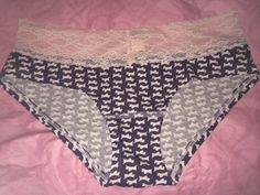 VICTORIA'S SECRET Cotton LOW RISE HIPHUGGER Purple Panty S SCOTTIE NEW Pink Lace #VictoriasSecret #Hiphugger