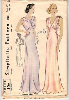 Vintage Sewing Pattern Rare Simplicity S601 Ladies' by Mrsdepew