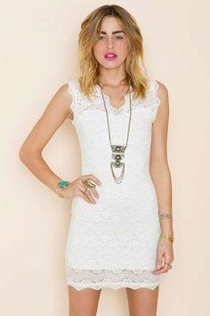 Lara+Lace+Dress+-+Ivory+|+Shop+Dresses+at+Nasty+Gal