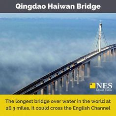 One of our top 10 #CivilEngineering projects of the last decade. See more by clicking the link in our bio. #EngineersRule #Engineering #Construction #Qingdao #Haiwan #Bridge #China #Infographic