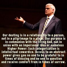 Ravi Zacharias Quote onmunion with a personal God