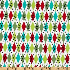 Michael Miller Nordic Holiday Socks Santa from @fabricdotcom  Designed by Michael Miller, this cotton print fabric is perfect for quilting, apparel and home décor accents. Colors include lime, red, aqua, black and white.