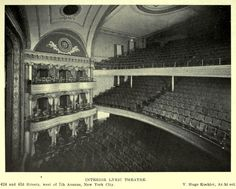 Inside the Lyric Theatre, New York City Architecture Mapping, New York Travel, New York City, Theatres, Painting, New York Trip, New York, Painting Art, Paintings