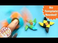 Ninja Fidget Spinner DIY - Paper Only, NO TEMPLATE Needed - Red Ted Art's Blog