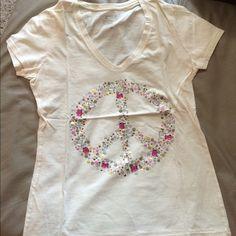 Old Navy T-shirt Tan tee, rhinestones, 100% cotton Old Navy Tops Tees - Short Sleeve