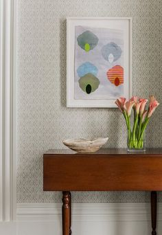 My 2014 sample sale wallpaper in this same color will look great in the foyer. Best score of the sale!