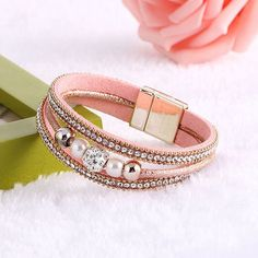 Boho Leather Bracelets Bangles