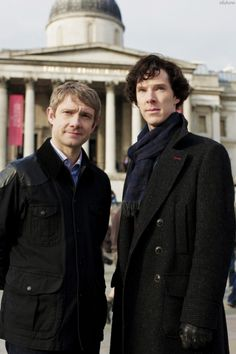 Sherlock and John. I guess this is from The Blind Banker.