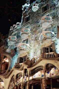 Barcelona, Spain - Gaudi - magical exterior and interior.