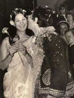 the wedding of singer Eric Burdon from the Animals to Angie King in 1967