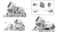 ArtStation - medieval house, Sang man2