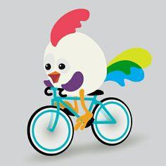 Hugoo kerékpáron