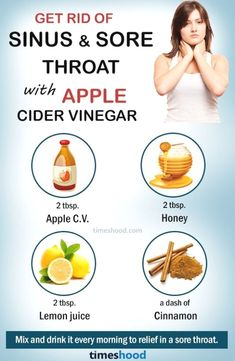 Natural Remedies For Sinusitis Want to get rid of sinus and sore throat? Try apple cider vinegar for sore throat and sinus that work very fast. Sore throat and sinus remedies. Allergy Remedies, Health Remedies, Cough Remedies, Homeopathic Remedies, Natural Home Remedies, Natural Healing, Holistic Healing, Home Remedies For Sinus, Natural Oil