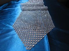 """4 1/2"""" Wide 108"""" Long  Tablerunner Silver Rhinestone Mesh Table Runners For Wedding Christmas Decoration on Etsy, $24.00"""