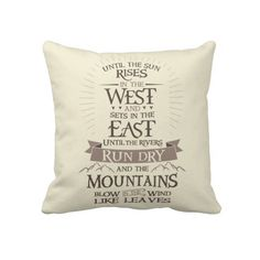 """""""The Promise"""" Game of Thrones throw pillow"""