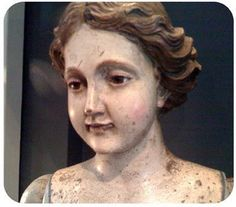 """wood carved young angel """"Jewels of the Queen"""""""