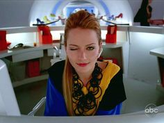 The fabulous Amanda Tanen played by Becki Newton in Ugly Betty. :c) She can just stand there and I'm laughing.
