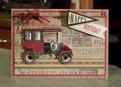 Masculine Birthday Card using Anna Griffin Products - Cards For Him Too kit.